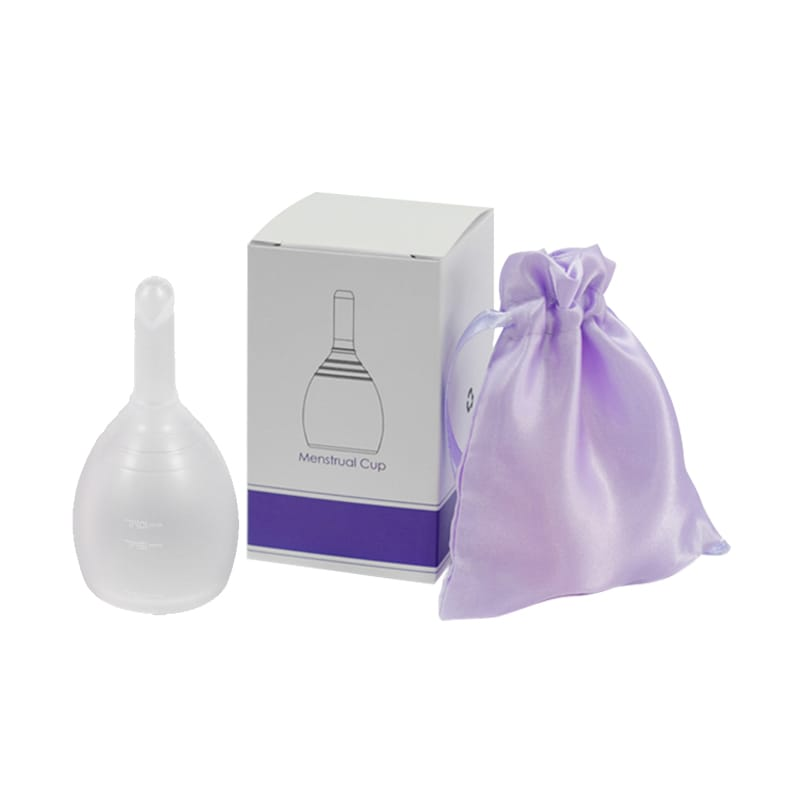 menstrual cup with drain valve